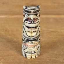 Authentic Native Carved Ivory Totem #12107 For Sale @ The Taxidermy Store