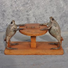 "Novelty ""Domino"" Bullfrogs Taxidermy Mount For Sale"