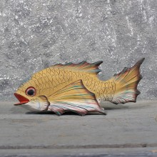 Hand Painted Ocean Fish Wood Carving #11605 - For Sale @ The Taxidermy Store