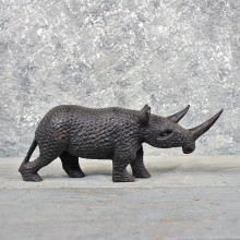 African Rhinoceros Wood Carving #11597 - For Sale @ The Taxidermy Store