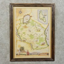 Tanzania Map Print For Sale #15753 @ The Taxidermy Store