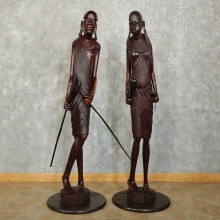 Massai Tribal Carving Pair For Sale #15860 @ The Taxidermy Store