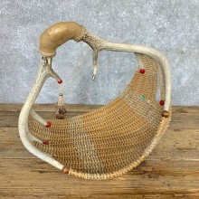 Whitetail Deer Antler Basket For Sale