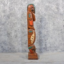 Tribal Totem Wood Carving #11655 For Sale @ The Taxidermy Store