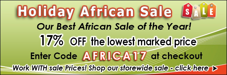 Holiday 2019 African Sale 17% Off  @ The Taxidermy Store