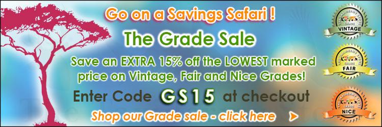August Grade Sale Savings