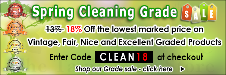 Spring Cleaning Grade Sale 18% Off  @ The Taxidermy Store