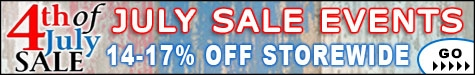 July Sale Events 14-17% Off @ The Taxidermy Store