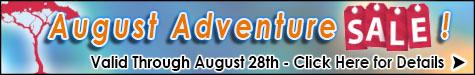 August Adventure Sale