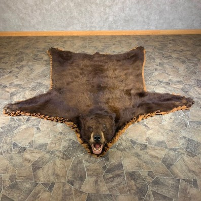 Chocolate Phase Black Bear Full-Size Rug For Sale #24002 @ The Taxidermy Store