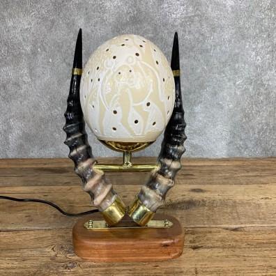 Ostrich Egg Lamp Safari Decor For Sale #22056 @ The Taxidermy Store