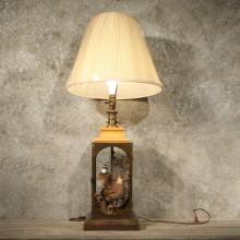 Glass Lamp w/ Quail Mounts