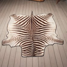 Zebra Rug Mount #11065 - The Taxidermy Store