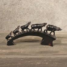 #11288 Water Buffalo Horn Carving