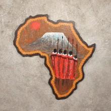 #11295 Original African Plaque Painting