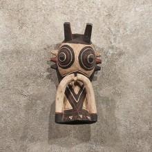 #11299 Original African Wood Warthog Mask Carving