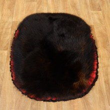 Black Bear Throw Rug w/ Red & Black Accents