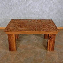 Carved Wood Table For Sale #15698 @ The Taxidermy Store