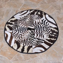 African Zebra Circle Rug Taxidermy Mount #12339 For Sale @ The Taxidermy Store