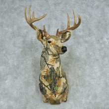 Camouflage Whitetail Deer Taxidermy Shoulder Mount For Sale