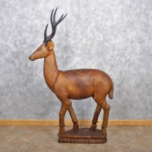 Sika Deer Wooden Carving #12509 For Sale @ The Taxidermy Store