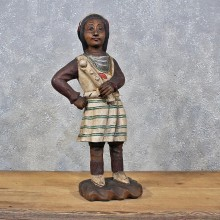 Carved Wooden Indian Statue #11985 For Sale @ The Taxidermy Store