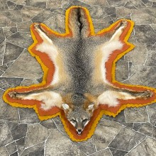 Grey Fox Full-Size Rug For Sale #24608 @ The Taxidermy Store