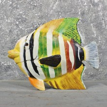 Hand Painted Ocean Fish Wood Carving #11620 - For Sale @ The Taxidermy Store