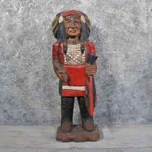 Carved Wooden Indian #11622 - For Sale @ The Taxidermy Store