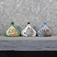 Hand Painted Animal Decanters #11627 - For Sale @ The Taxidermy Store