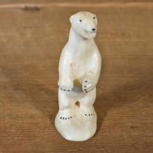 Native Ivory Polar Bear Figurine #12065 For Sale @ The Taxidermy Store