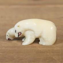 Native Ivory Polar Bear Figurine #12079 For Sale @ The Taxidermy Store