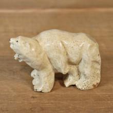 Native Ivory Polar Bear Figurine #12076 For Sale @ The Taxidermy Store