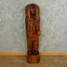 Native American Chief Wood Carving For Sale #16892 @ The Taxidermy Store