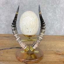 Ostrich Egg Lamp Safari Decor For Sale #21716 @ The Taxidermy Store