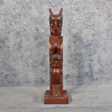 Tribal Totem Wood Carving #11656 For Sale @ The Taxidermy Store
