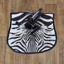 Burchell's Zebra Head Taxidermy Rug For Sale