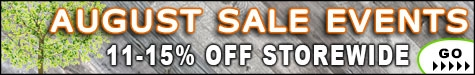 August Sale Events 11-15% Off @ The Taxidermy Store