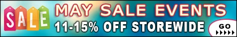 May Sale Events 11-15% Off @ The Taxidermy Store