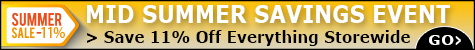 Mid Summer Savings 11% Off @ The Taxidermy Store